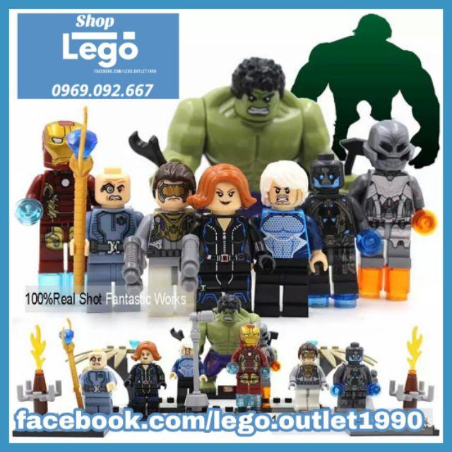 Xếp hình Avengers: Age of Ultron Henchman Ultron Sentry Baron Struker Quick Silver Black Widow Lego Minifigures SY276
