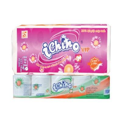 Giấy vệ sinh 10 cuộn Deluxe Ichino 3 lớp, bịch 1,7kg