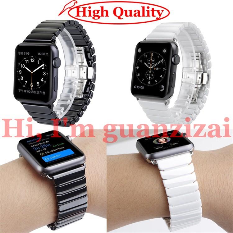 Dây đeo thay thế bằng sứ cho đồng hồ thông minh Apple Watch 1/ 2/3 ( 38mm 42mm )