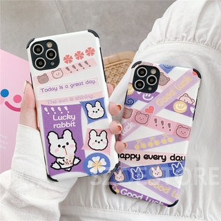 Cartoon Cute Rabbit Skin-Friendly Silk Pattern Soft Phone Case Cover for iPhone 11 Pro Max X XS XR XSMax 8 7 6 6s Plus SE 2020
