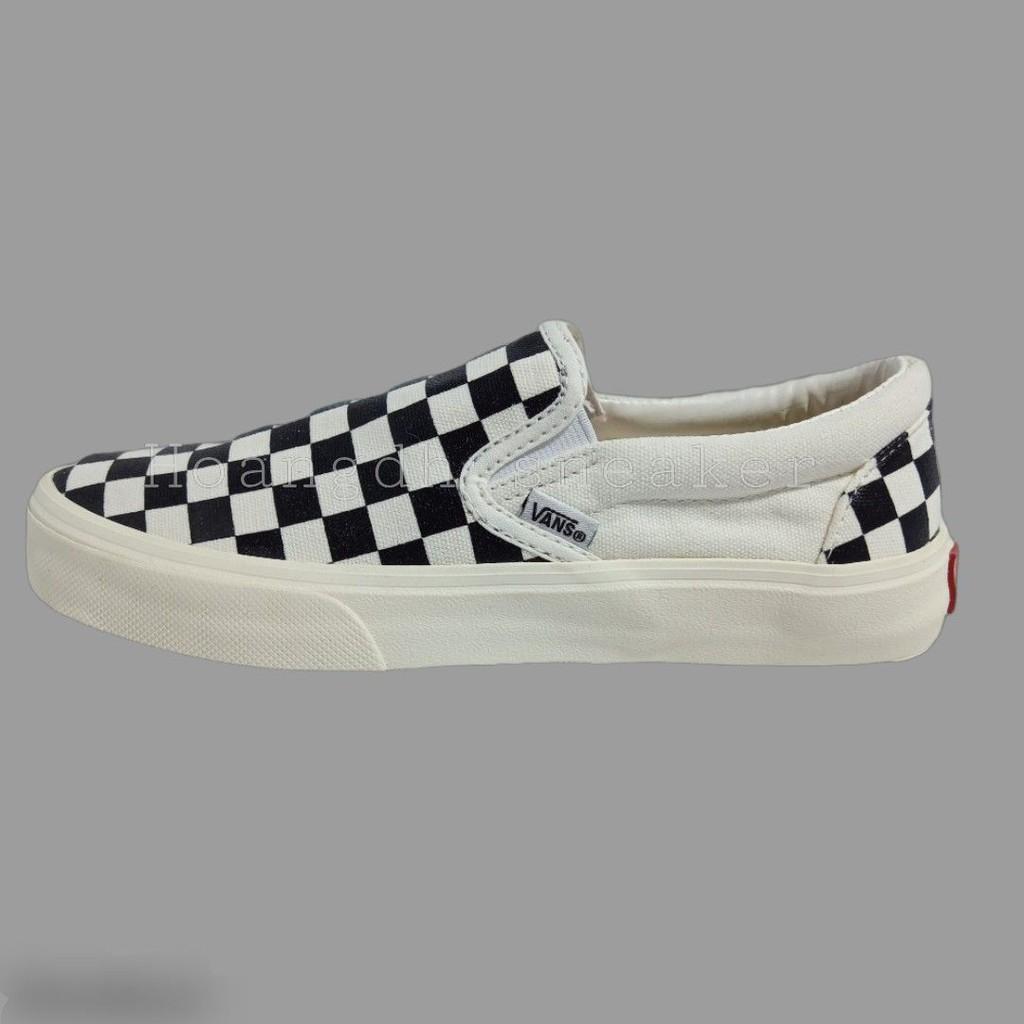 Giày Sneaker Slip On Vans Caro Lười Hàng Cao Cấp Full Bill Box