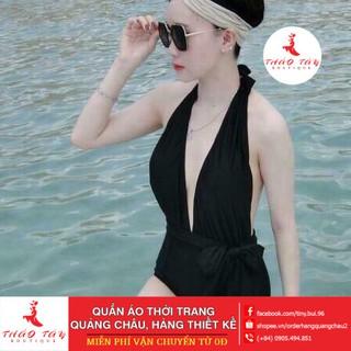[ Free Ship 99k ] Bikini,Bộ Đồ Bơi Một Mảnh Xẻ Ngực Sexy ,kèm mũ và dép BHV002