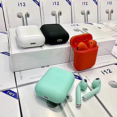Tai Nghe Bluetooth i12 TWS V5.0 Cảm Biến Vân Tay Như Airpod
