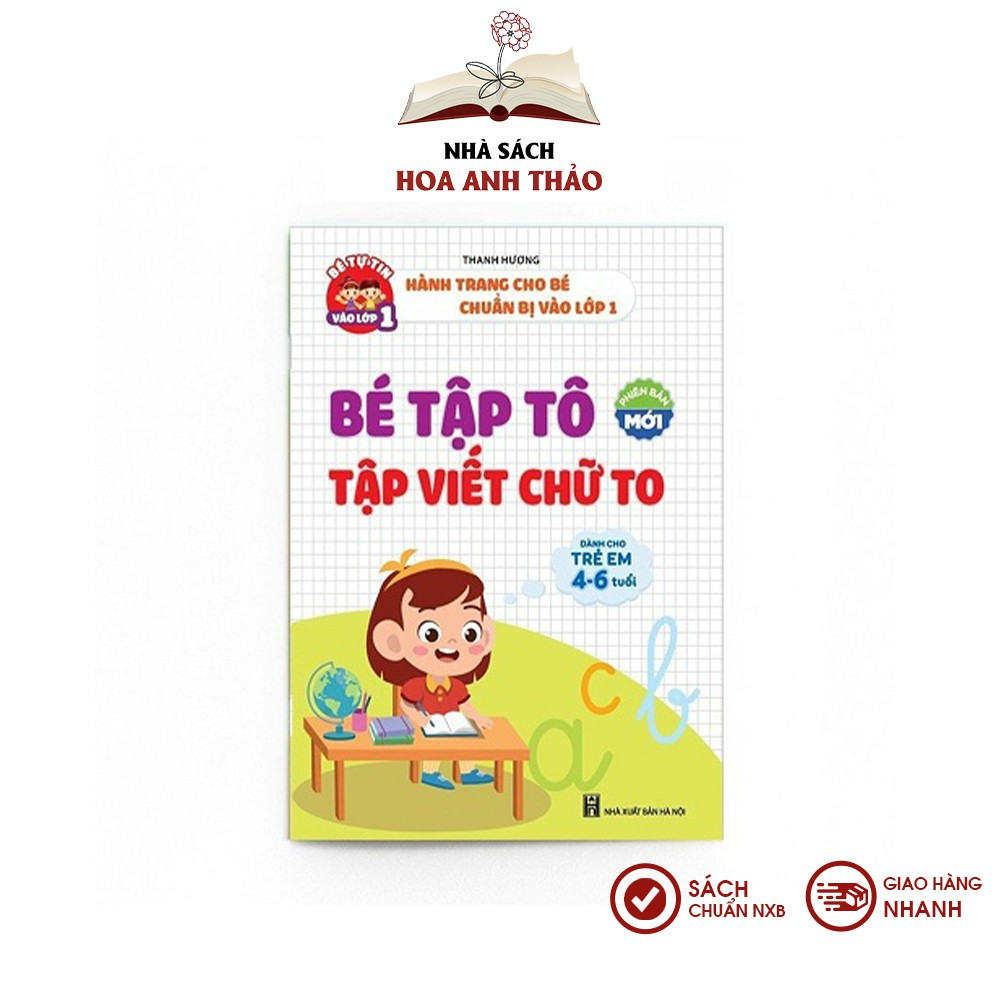 Sách - Bé tập tô, viết chữ to dành cho trẻ em từ 4-6 tuổi