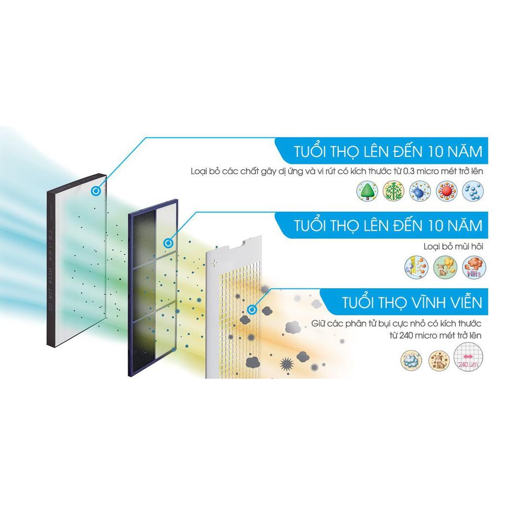 NỘI ĐỊA NHẬT Máy lọc không khí inverter tạo ion diệt khuẩn có bù ẩm Sharp KC-C70, KC100