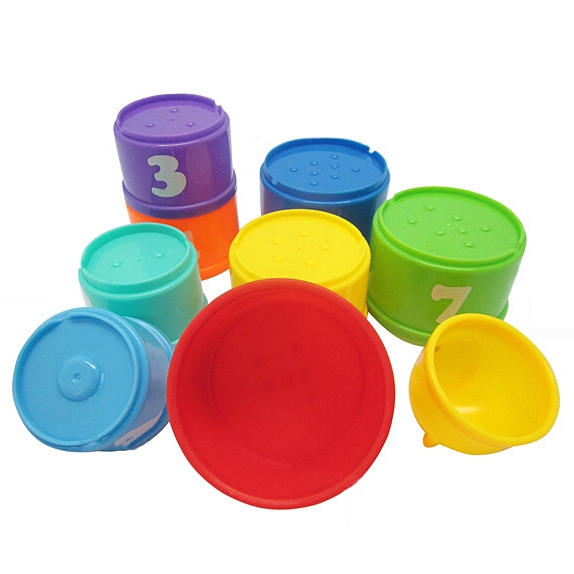 READY STOCKChildren's baby toy stack cup