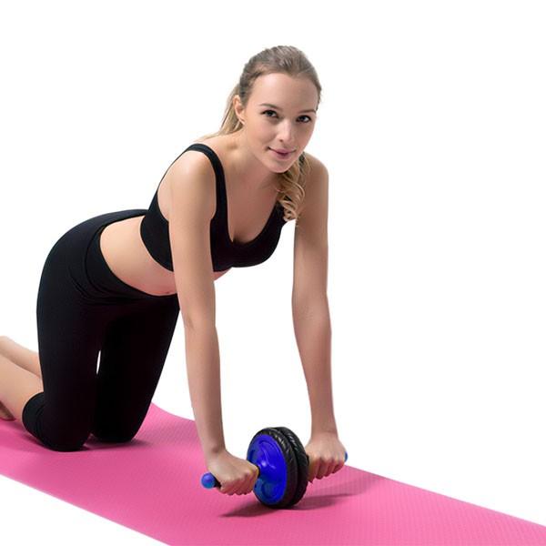 Bánh xe tập cơ bụng giảm mỡ hiệu quả AB Whell + Tặn thảm lót gối