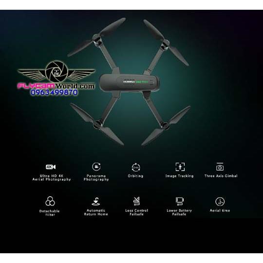 Flycam Hubsan Zino Pro Plus GPS 8km FPV Camera 4K UHD 3 trục Gimbal với 43 phút