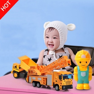 vlth0e 1:64 Children Alloy Engineering Cars Pull Back Vehicle Model Toys as Gift