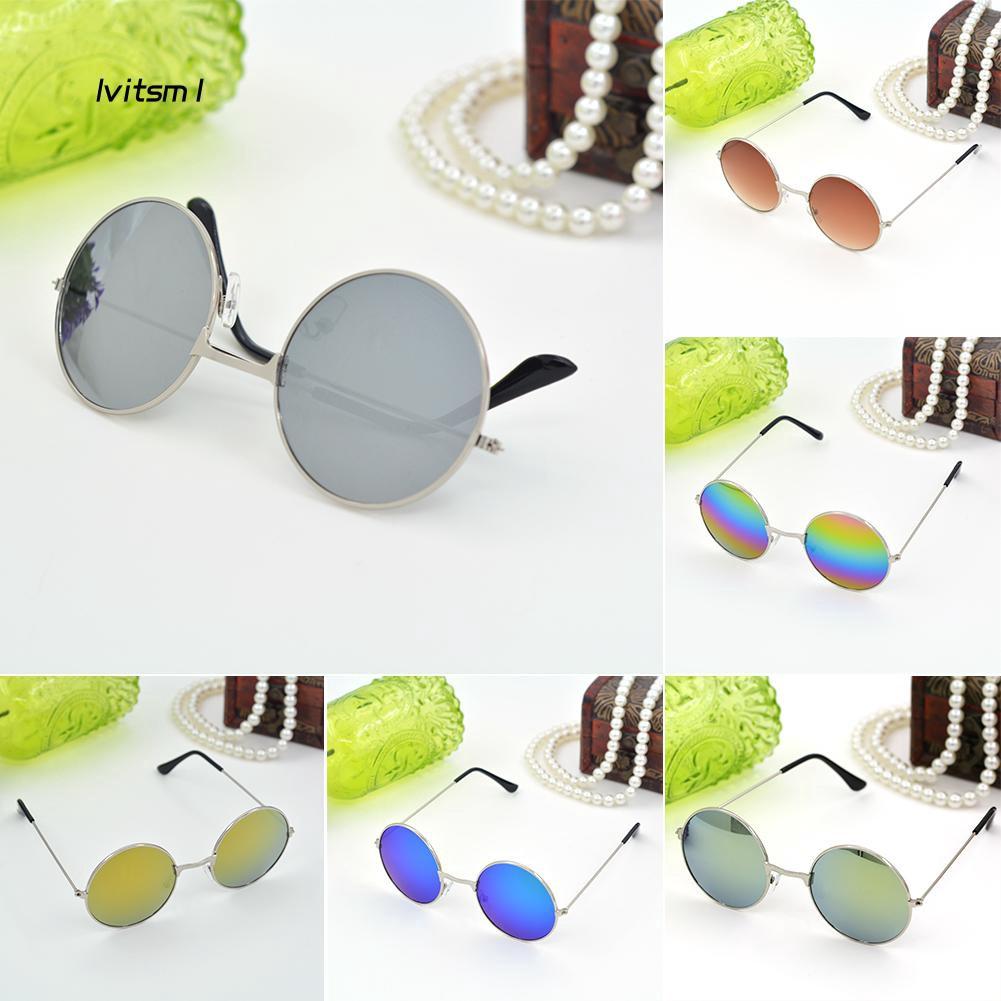 LTM1_Men's Women's Punk Round Lens Eyewear Sunglasses Outdoor Sports Glasses Gift