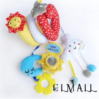 ➤GMLCute Animals Toys Baby Newborn Plush Toys Sound Development Teether Rattle Toys