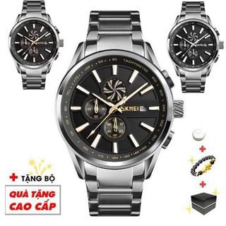 Đồng hồ nam SKMEI thời trang nam cao cấp chạy 6 kim có kim cánh quạt đẳng cấp lịch lãm SME33 - Đồng Hồ Camz