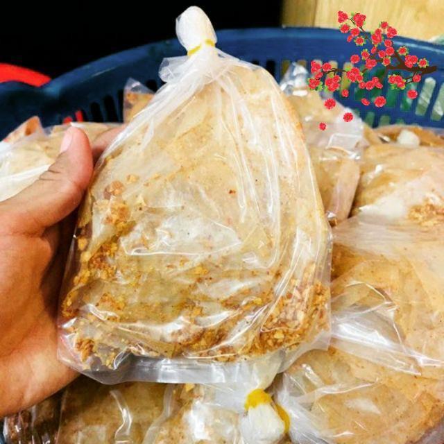 [1B]-Bánh Tráng Tỏi Muối Nhuyễn Trọng Nghĩa (Không dầu)