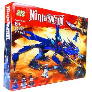 Bộ Lego Xếp Hình Ninjago Siêu Rồng Xanh. Gồm 315 Chi Tiết. Lego Ninjago Lắp Ráp Đồ Chơi Cho Bé.