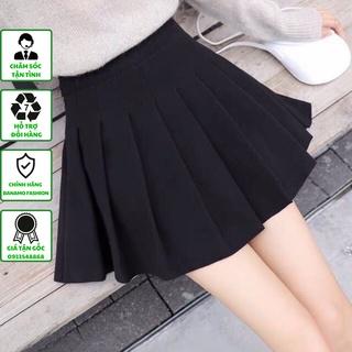 Chân váy xếp ly chân váy ngắn tennis cạp cao ghen bụng có quần lót trong chất cực đẹp thời trang Banamo Fashion 5314