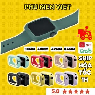 Ốp Apple Watch silicone mềm cho đồng hồ thông minh 38mm 40mm 42mm 44mm Series 1/2/3/4/5/6