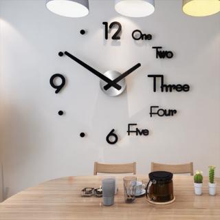 Đồng hồ dán tường hiện đại thiết kế mặt gương 3D bóng bẩy