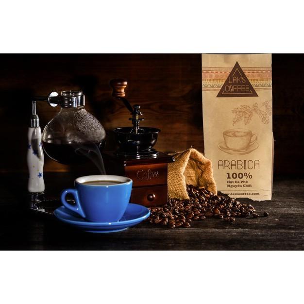 Arabica rang xay nguyên chất Lak's Coffee [500gram/bịch] FREESHIP Combo 2 bịch + tặng 01 phin nhôm pha cà phê Arabica rang xay nguyên chất Lak's Coffee [500gram/bịch]
