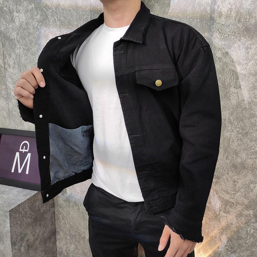 Áo khoác jean đen nam SS819 [FREESHIP] shop Sunsun chuyên áo khoác rin nam nữ