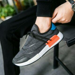 Giày thể thao lười vải xám