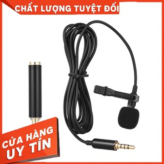 Mini Portable Clip-on Lapel Lavalier Condenser Mic Wired Microphone for DSLR Camera for Cellphone – Hàng nhập khẩu