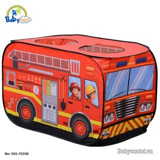 Đồ chơi Nhà bóng cho bé mô hình xe cứu hỏa 995-7035B