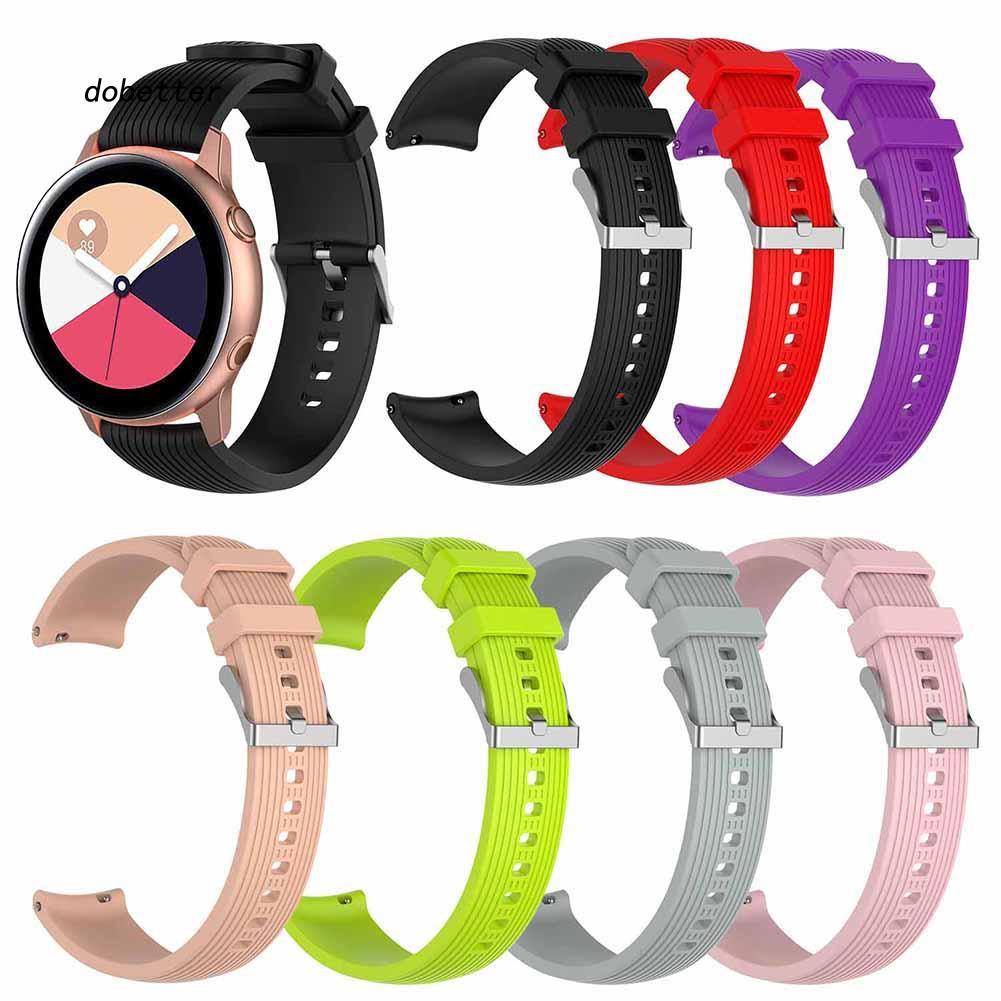Dây đeo thay thế bằng silicone màu trơn cho đồng hồ Samsung Galaxy Watch Active
