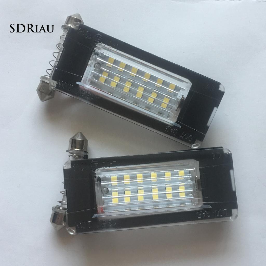 Set 2 Đèn Biển Số 6500k Dc12V Cho Mini Cooper R56 R57 R58 R59
