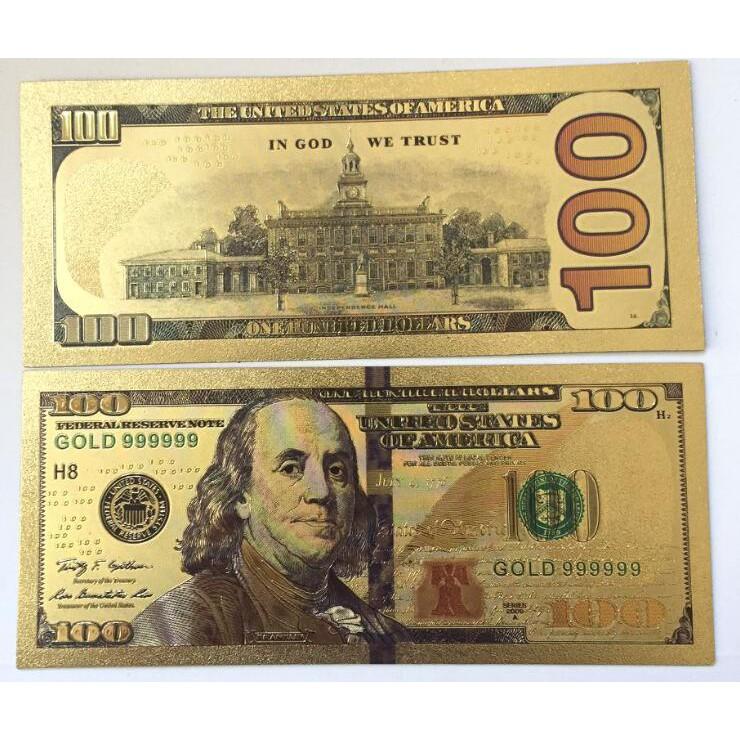 Tờ 100 USD mạ vàng