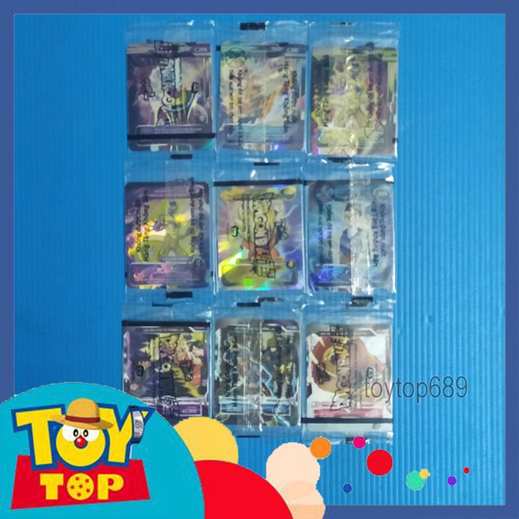 [Một thẻ] Thẻ bài Toonies Dragon Ball Super – Thế giới vô cực – Thẻ đặc biệt, thẻ song đấu có seal