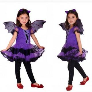Trang Phục Hóa Trang Halloween Nhân Vật Người Dơi Cho Bé Gái