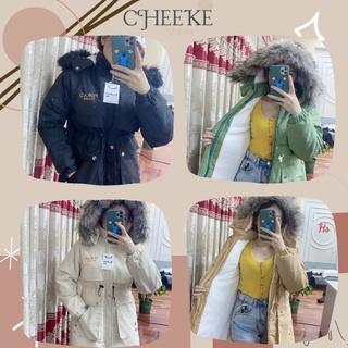[Giảm Ngay 10k + Ảnh Thật] Áo Prdrad Thêu Nổi Dáng Dài Lót Lông Cừu Cheeke thumbnail