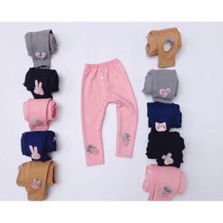 Quần legging thun dày đáng yêu cho bé gái thumbnail