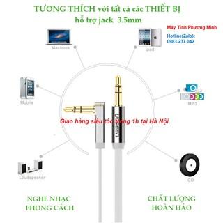 Cáp Audio Âm Thanh 3.5mm 1M Đầu Gập chữ L cao cấp Ugreen 10597 - Hàng Chính Hãng bảo hành 18 tháng