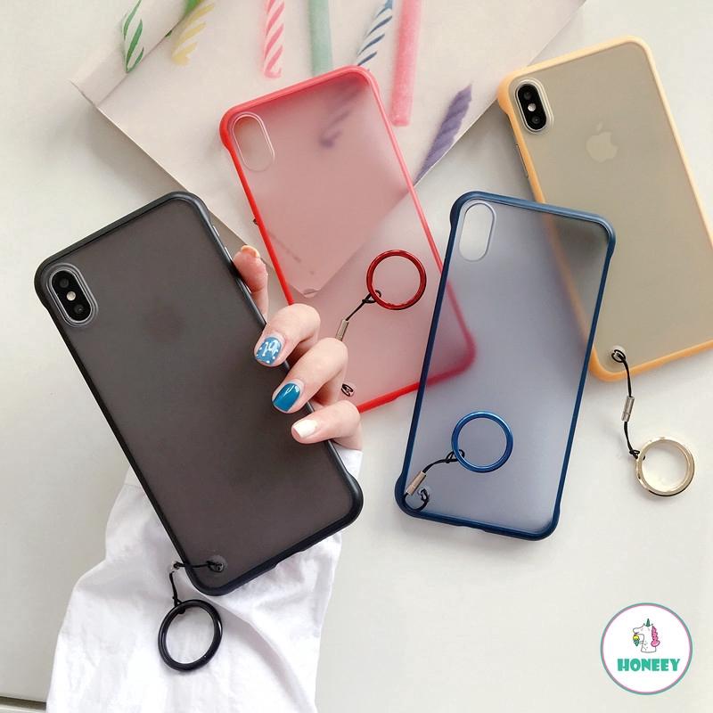 Ốp lưng điện thoại chống sốc siêu mỏng không viền khung dành cho IPhone XR XS MAX XR 8 7 6 6S Plus