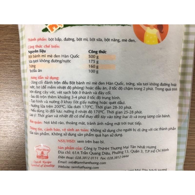 Bột Bánh Mì Mè Đen Hàn Quốc (500g)