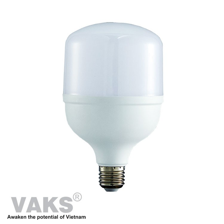 01 cái Bóng đèn Led VAKS búp trụ đuôi E27- công suất 5W, 10W, 15W, 20W, 30W, 40W - 220VAC - Kín nước - Ánh sáng trắng