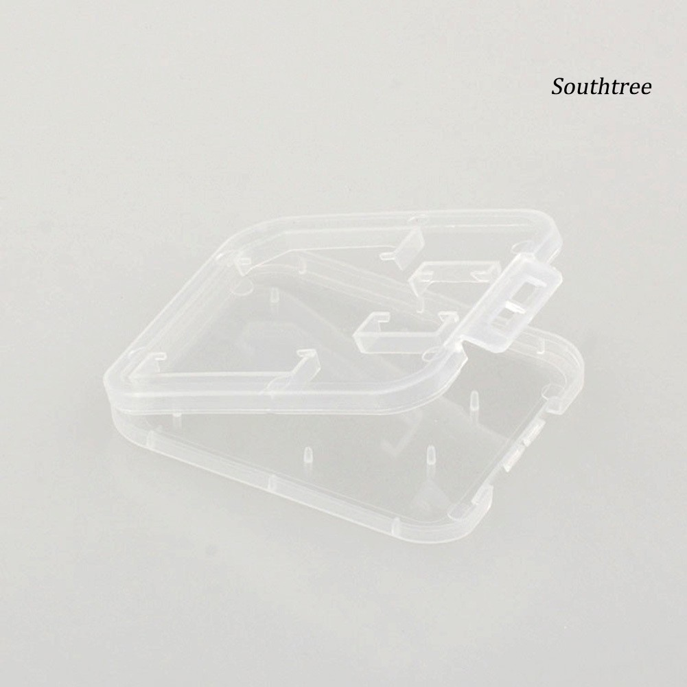 【Ready stock】5 Pcs Clear Plastic Memory Card Case SD TF Card Storage Box Protection Holder