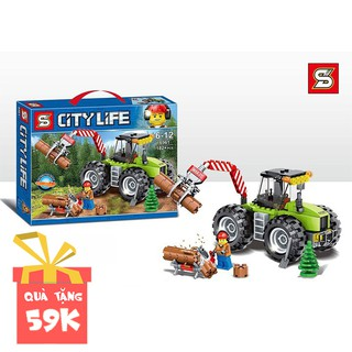 Bộ lego lắp ráp xếp hình Đội khai thác gỗ rừng City Life 6961