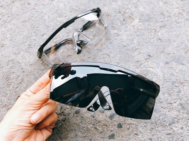 Kính bảo hộ vuông cao cấp- tròng mắt trong suốt bảo vệ mắt toàn diện DICH Dng toi
