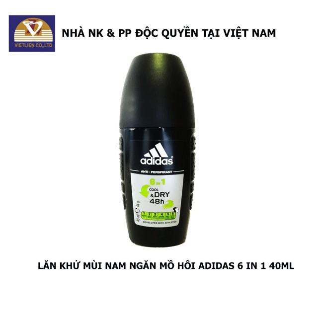 Lăn Khử Mùi Nam Ngăn Mồ Hôi Adidas 6 in 1 40ml