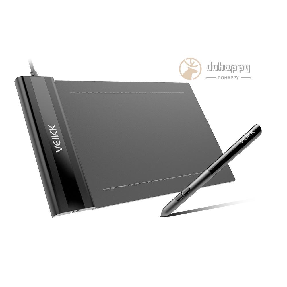 Máy Tính Bảng Đồ Họa Kỹ Thuật Số Veikk S640 6x4 Inch 8192 5080 Lpi  One-Touch Gôm Tẩy