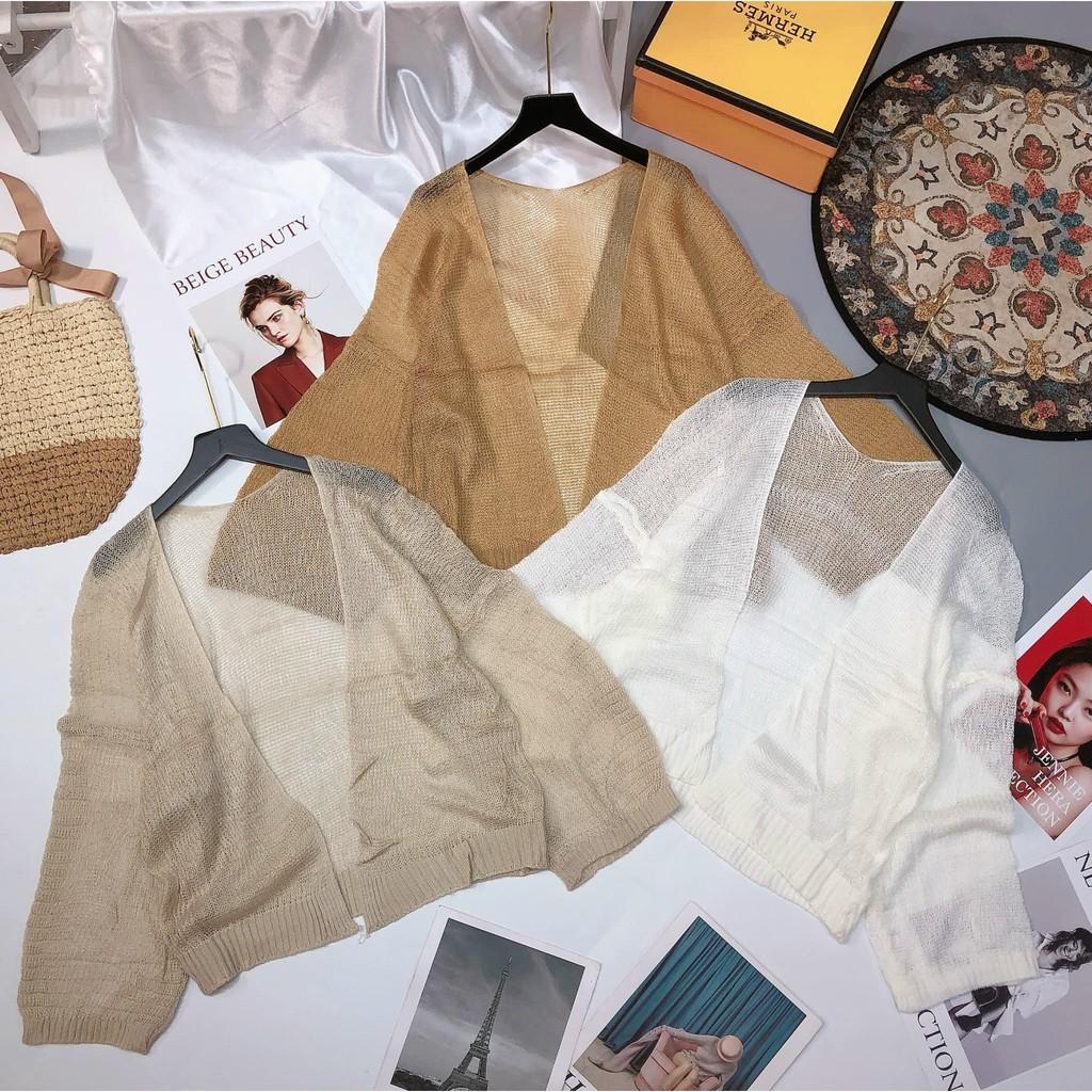 Áo khoác cardigan len mỏng thu đông hàng quảng châu - Xưởng may hạnh hồng