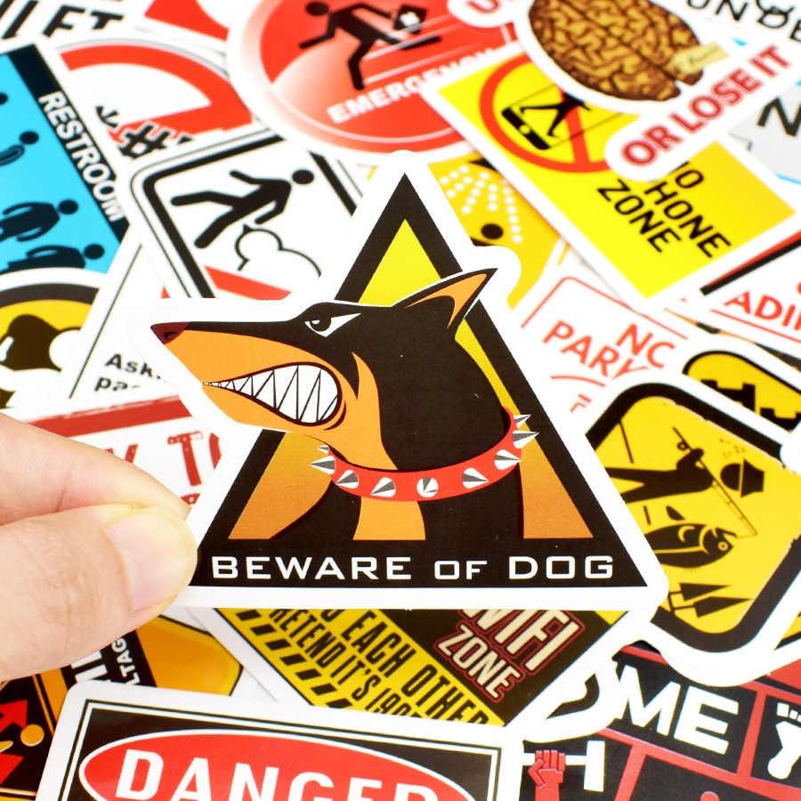 Bộ Sticker Cảnh Báo Tổng Hợp Dán Xe Ô Tô , Xe Máy , Xe Đạp Điện , Nón Bảo Hiểm , Vali , Laptop Chống Thấm Nước...