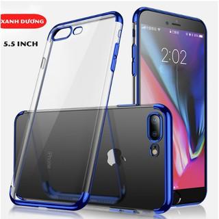Ốp lưng Iphone 7 Plus Silicon cao cấp 2 đầu viền màu mạ điện