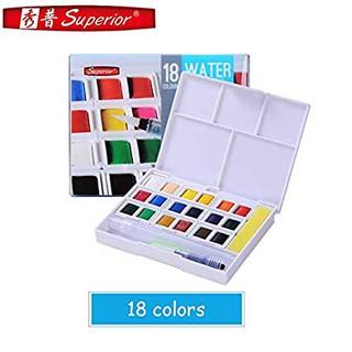 Màu nước superior dạng viên nén hộp 18 màu-Dụng cụ vẽ Tâm Tâm thumbnail