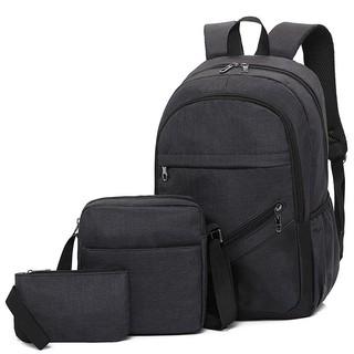Bộ 3 Món Balo laptop sinh viên,vải bố thời trang, ba lô du lịch,balo cao cấp,ba lô giá rẻ