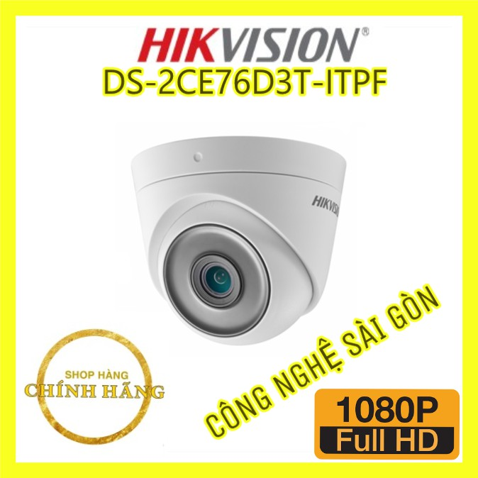 Camera Dome 4 IN 1 Hồng Ngoại 2.0 Megapixel HIKVISION DS-2CE76D3T-ITPF