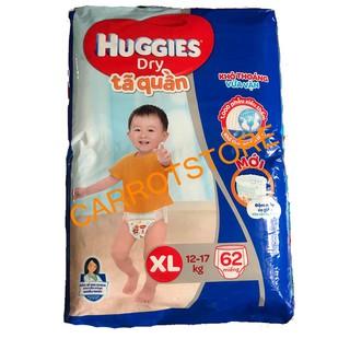 Tã quần HUGGIES DRY PANTS SUPER JUMBO XL62