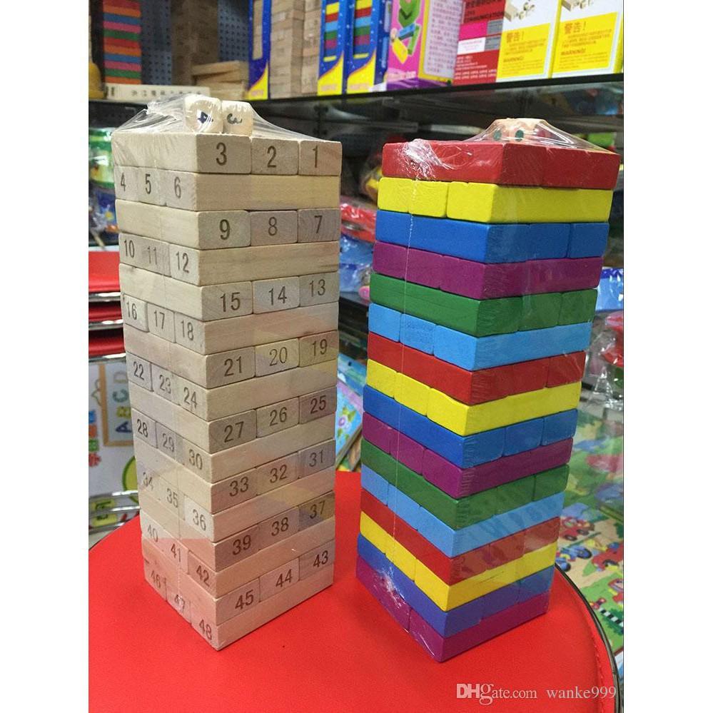 [Nhập TOYAPR10K giảm ngay 10K]đồ chơi rút gỗ 48 miếng nặng 1kg | HÀNG MỚI